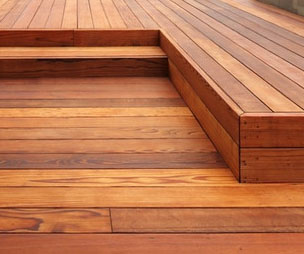 redwood decking stains